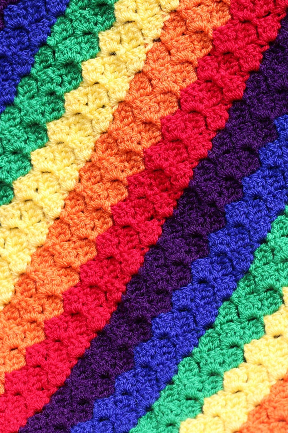 How to change colour in Corner to Corner crochet