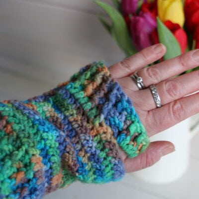 Free Fingerless gloves pattern – easy quick make