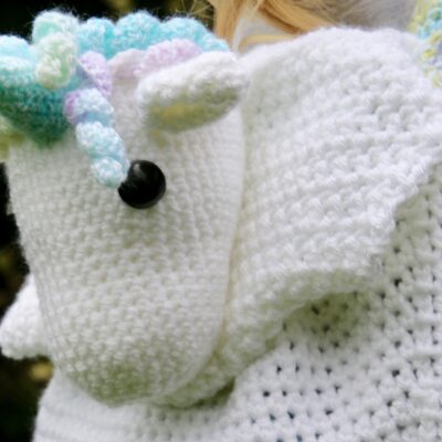 Crochet Unicorn backpack