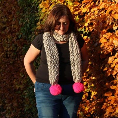 Mini Bean Stitch Crochet Scarf with video