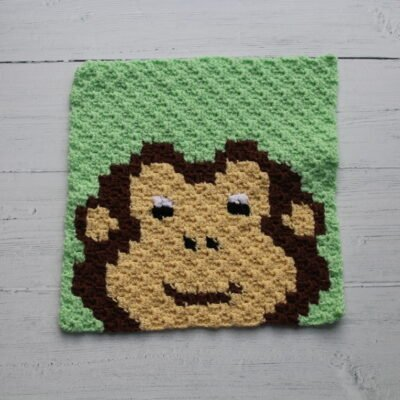 c2c chart monkey cross stitch crochet