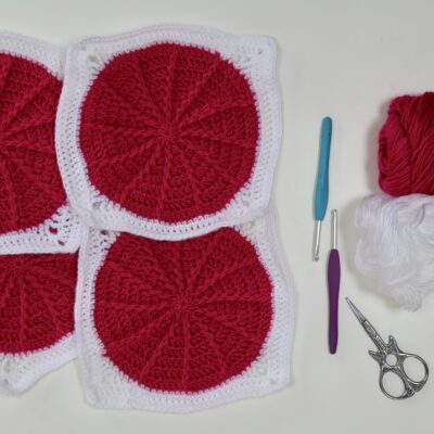 How to crochet the Front Post Double crochet in a circle