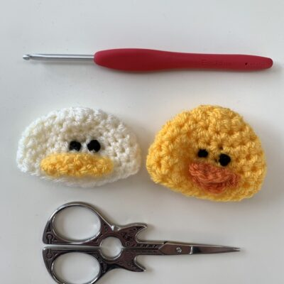 crochet duck hat - the big knit innocent drinks