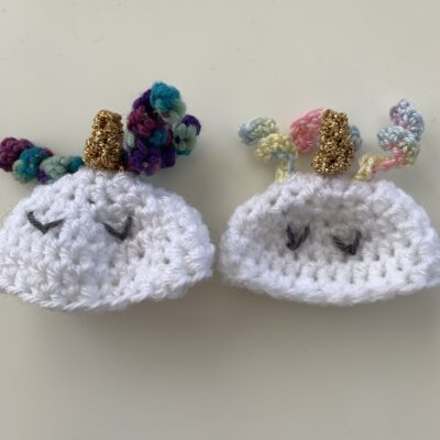 unicorn big knit hat crochet pattern