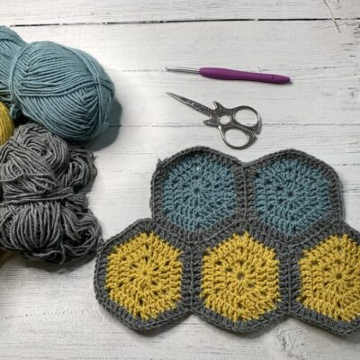 CJAYG Hexagon joining with crochet