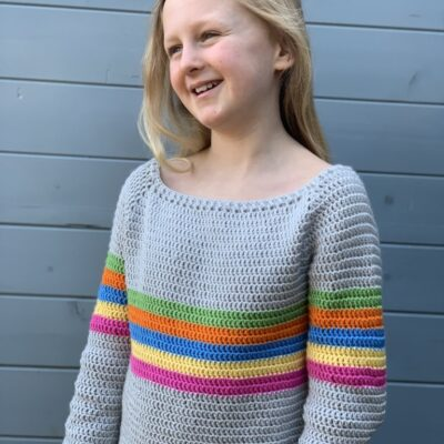"Kids Crochet Sweater – Free Pattern ""All the Stripes Jumper"""