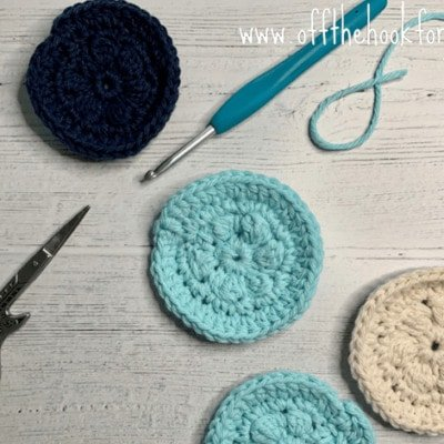crochet face scrubbies, free quick and easy pattern