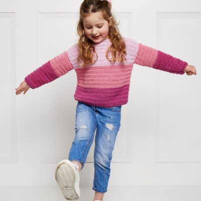 Easy Crochet Kids Sweater – Crochet Now 67