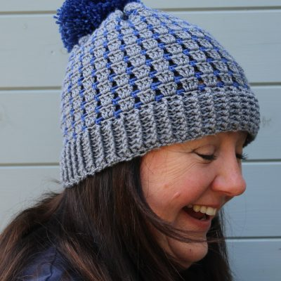 Block stitch crochet hat pattern
