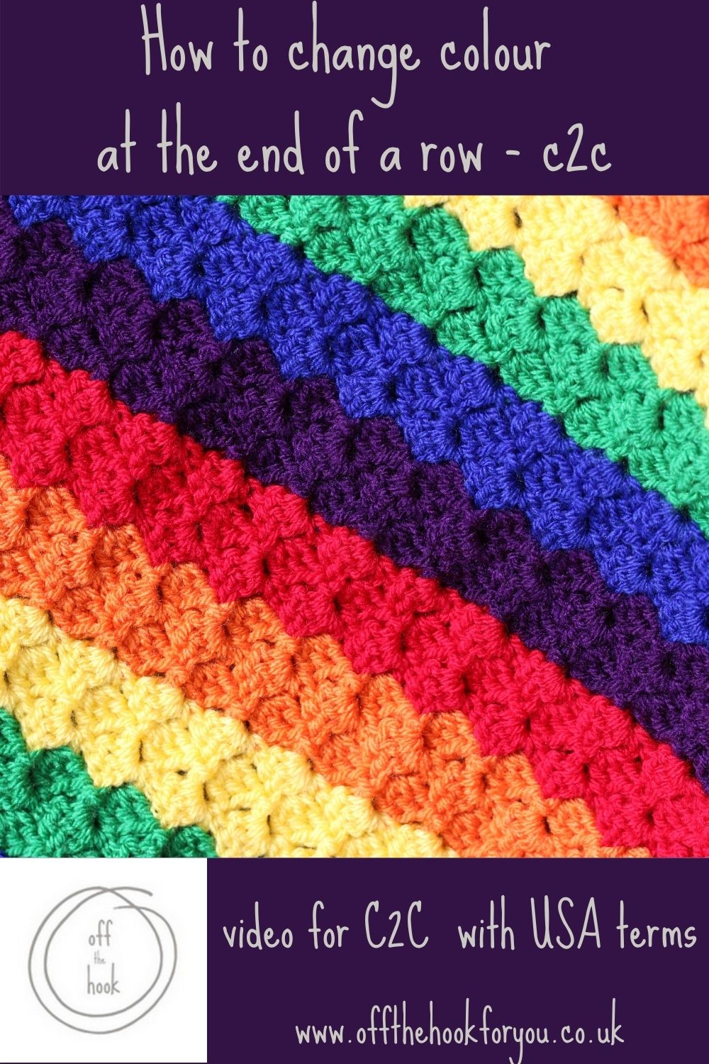 how to change colour in C2C crochet