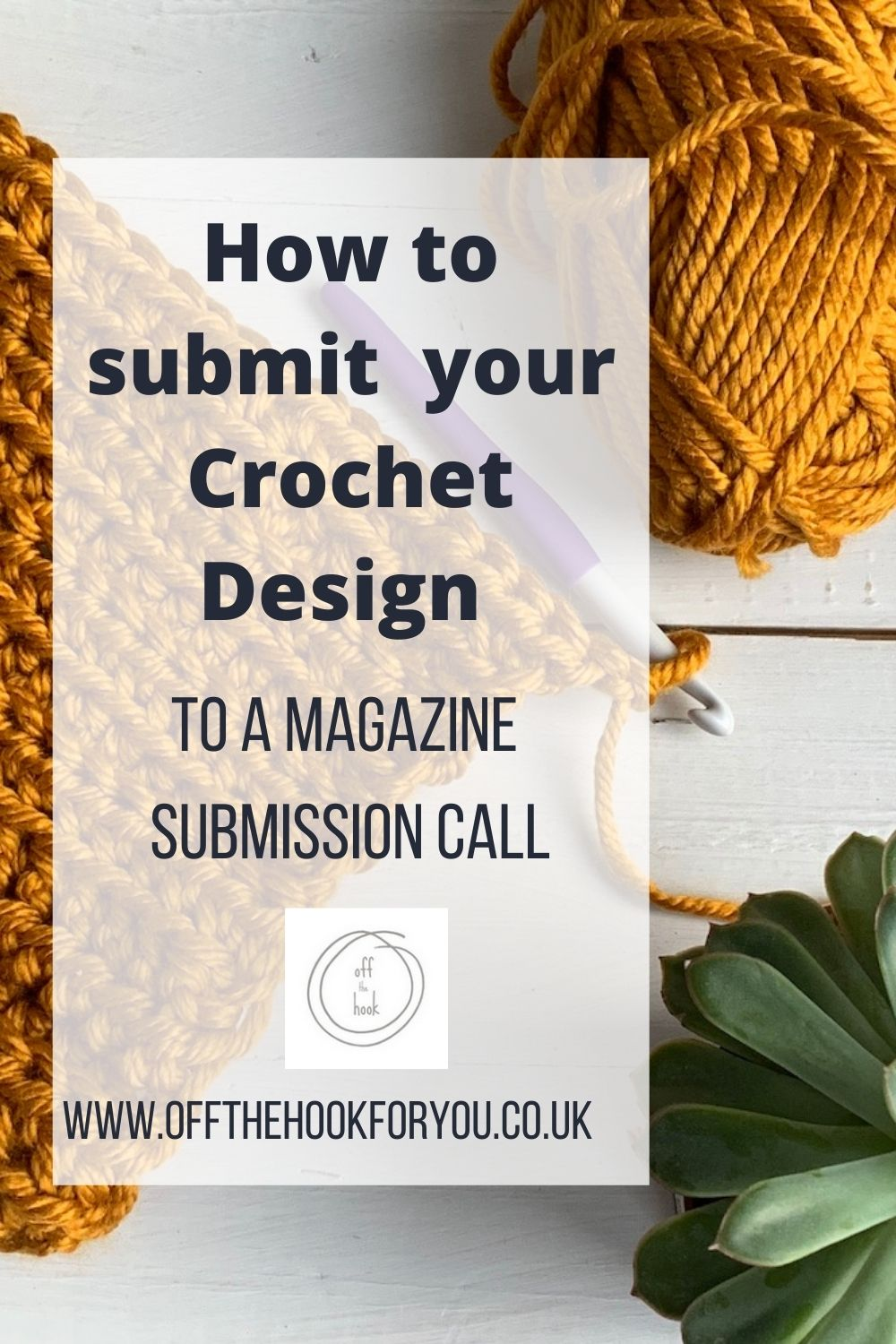 How to submit a crochet design.  Be a crochet designer