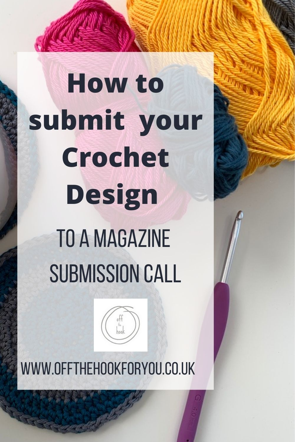 How to be a crochet designer