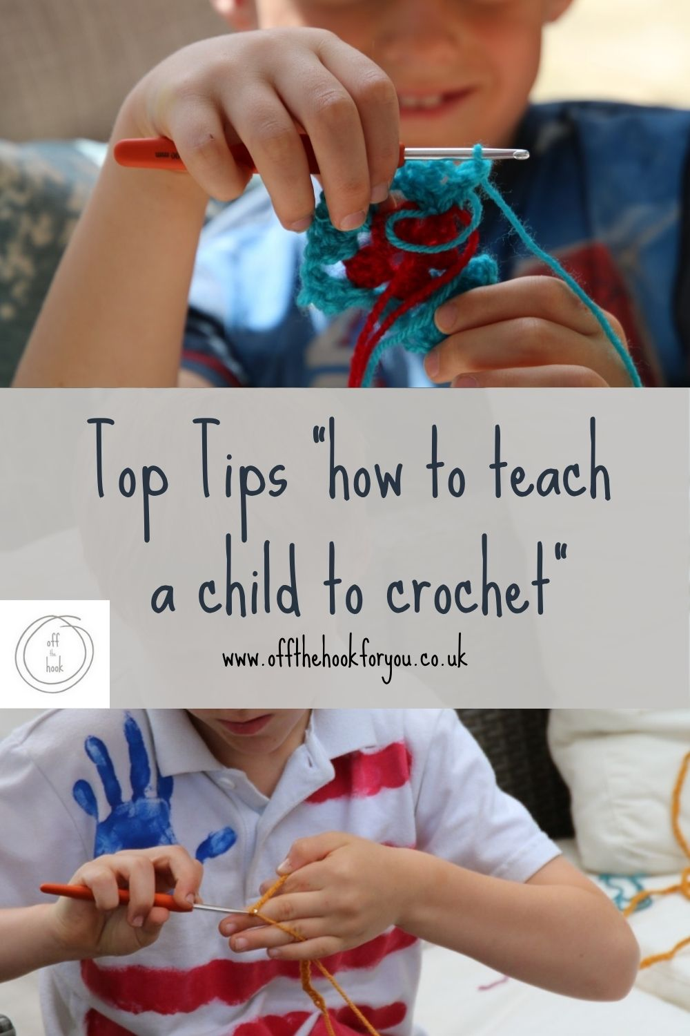 how to teach a child to crochet