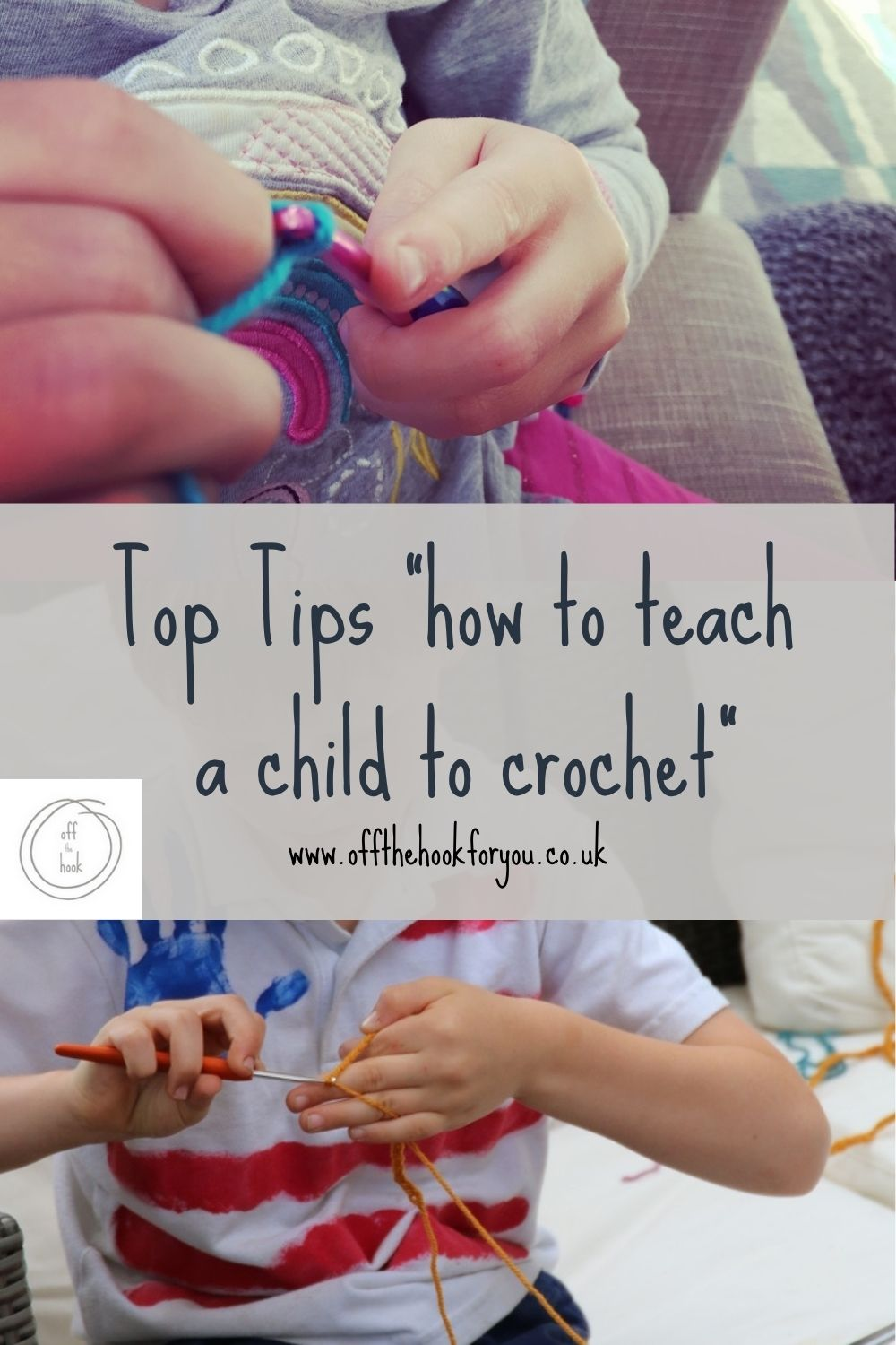 Tips to teach a child to crochet