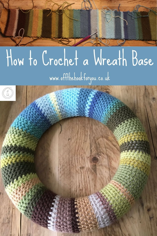 How to crochet a wreath base