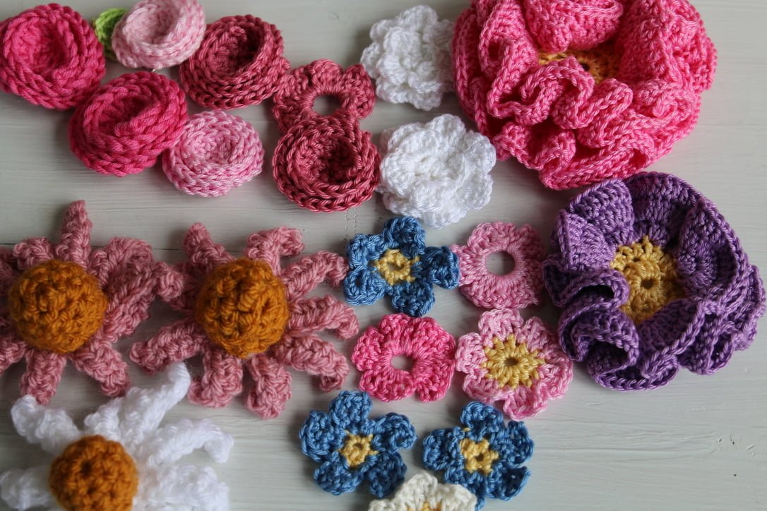 crochet flowers quick and easy patterns