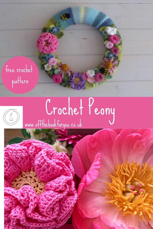 crochet peony free pattern