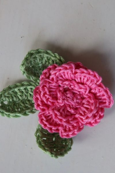 quick and easy crochet rose