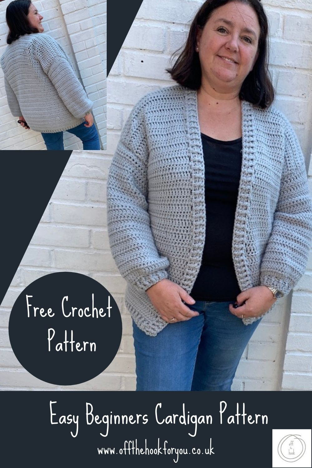 Quick and Easy Crochet Cardigan Pattern - Size Inclusive